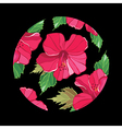 Floral pattern with hibiscus vector image