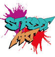 inscription street art vector image