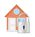 House with Lock vector image
