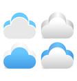 3d cloud element in 4 color version vector image vector image