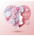 8 march international womens day concept design vector image vector image