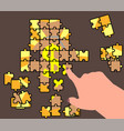 abstraction of a business plan puzzle vector image