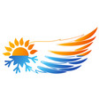 air conditioning wing symbol vector image vector image
