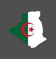 algeria flag map vector image