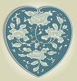 asian heart ornament vector image