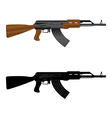 assault rifle ak 47 vector image vector image