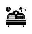 bedroom furniture black glyph icon