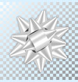 bow ribbon christmas isolated vector image