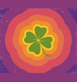 clover with rainbow lines vector image vector image