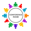 Colorful conference room icon vector image vector image