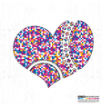 Colorful heart vector image