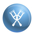 crutches icon outline style vector image