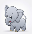 cute infant elephant character baby vector image