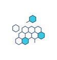dna honeycomb icon vector image