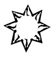 emblem sun black and white solar sign vector image
