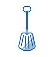 emergency snow shovel icon vector image vector image
