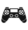 entertainment gamepad icon simple style vector image vector image