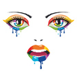 Face of Paint vector image vector image
