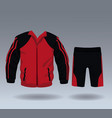 fitness sport wear for male vector image vector image