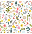 floral seamless pattern with leaves branches and vector image vector image