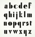 Geometric Retro Alphabet vector image vector image