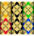 Gold Thai style complex pattern vector image
