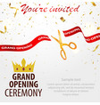 grand opening celebrations background with gold vector image vector image