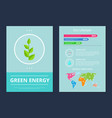 green energy and eco lifestyle vector image