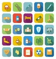 Hospital color icons with long shadow vector image vector image