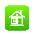 house icon digital green vector image