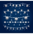 Illuminated christmas garland set