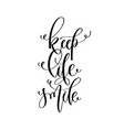 keep life smile - hand lettering inscription text vector image vector image