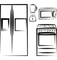 kitchen electronics vector image