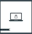 laptop icon simple vector image vector image