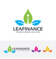 leaf finance logo design vector image vector image