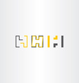 Letter h icons set collection yellow black