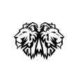 lion head logo design vector image vector image