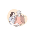 nursing home hospital hospice concept vector image vector image