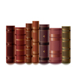 old books isolated vector image vector image