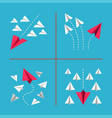 paper plane conceptual vector image