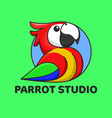 parrot studio good for studio logo or branding vector image