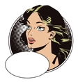 People in retro style Portrait of a girl vector image
