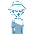 portrait girl traveler vacation tourism design vector image vector image