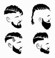 printset hairstyles for men in glasses vector image vector image