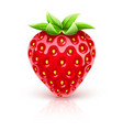 ripe red strawberry berry vector image vector image