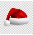 santa claus hat isolated on transparent background vector image vector image