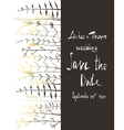 Save the Date Invitation Card Template with vector image