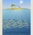 sea landscape the vector image vector image