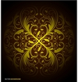 seamless floral wallpaper pattern black vector image