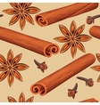 seamless mulled wine spices vector image